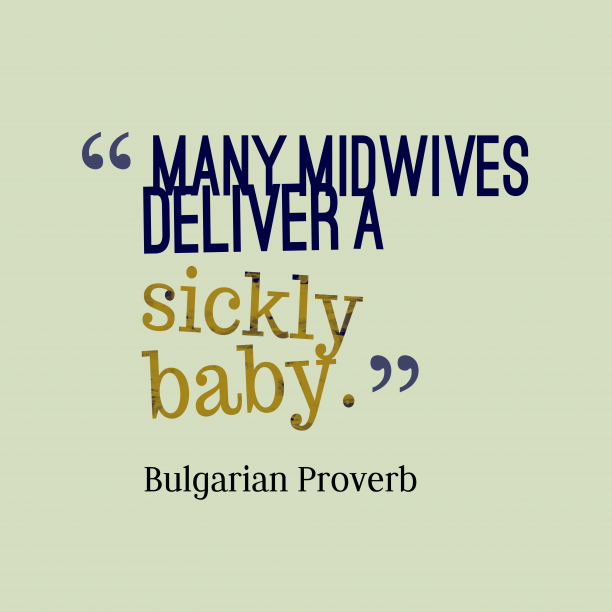 Bulgarian proverb about advice.