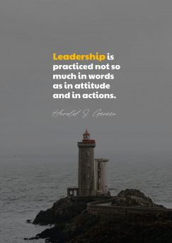 Harold S. Geneen 's quote about leadership. Leadership is practiced not so…