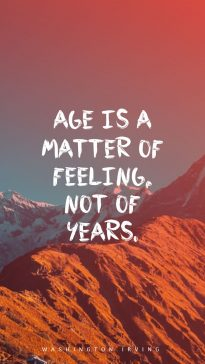 Washington Irving 's quote about . Age is a matter of…