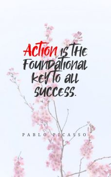 Pablo Picasso quote about success.