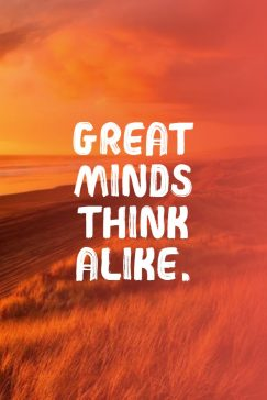 Greek proverb 's quote about mind,think. Great minds think alike….