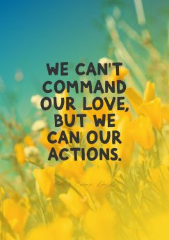 Arthur Conan Doyle 's quote about action,love. We can't command our love,…