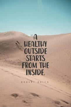 Robert Urich 's quote about health. A healthy outside starts from…