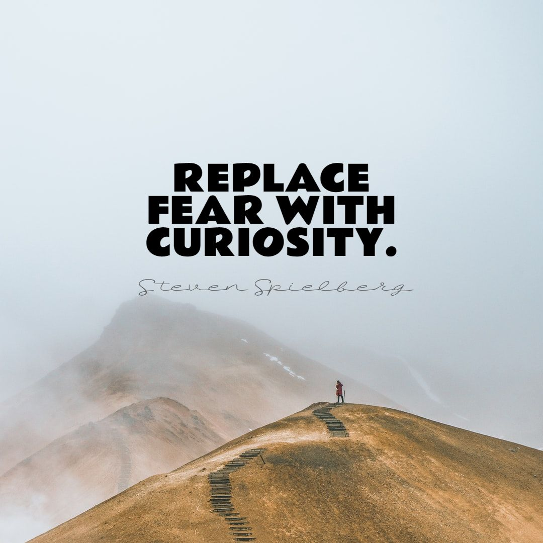 Quotes image of Replace fear with curiosity.