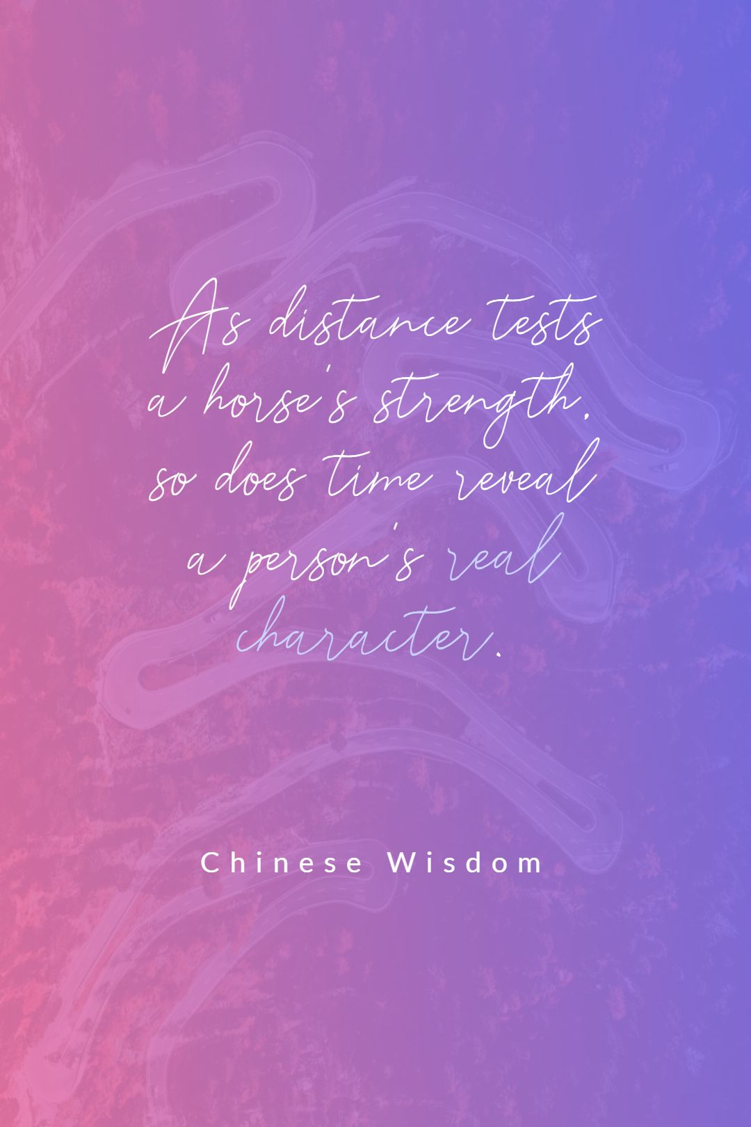 Quotes image of As distance tests a horse's strength, so does time reveal a person's real character.