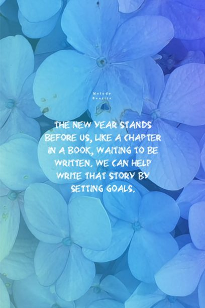 Quotes Poster by Melody Beattie about New Year