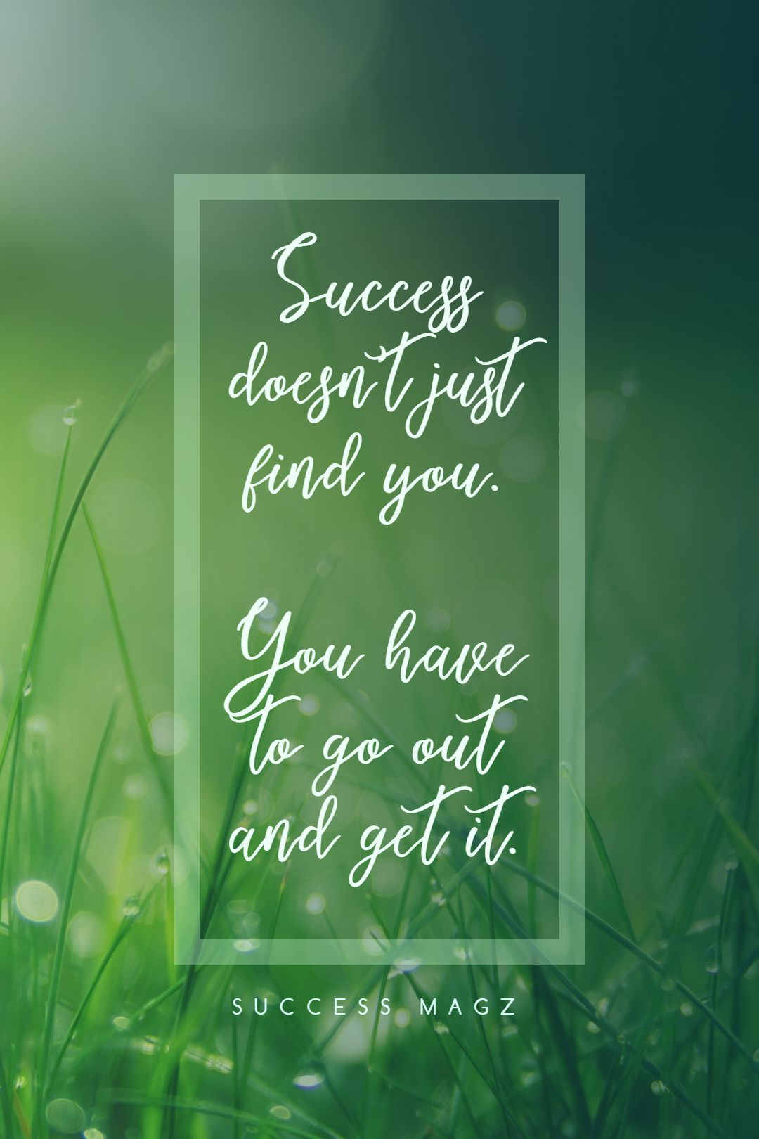 Quotes image of Success doesn't just find you. You have to go out and get it.