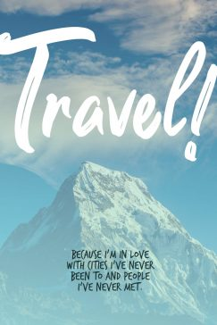John Green 's quote about travel. I'm in love with cities…