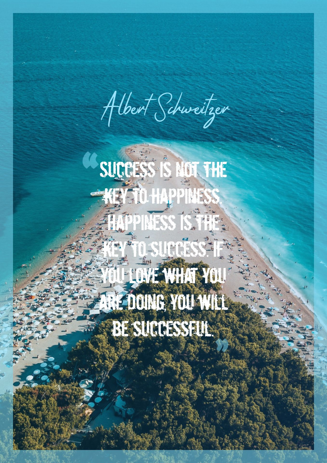 Quotes image of Success is not the key to happiness. Happiness is the key to success. If you love what you are doing, you will be successful.