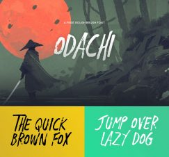 Odachi Font by Mehmet Reha Tugcu is Now Available