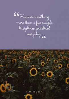 Jim Rohn 's quote about discipline,success. Success is nothing more than…