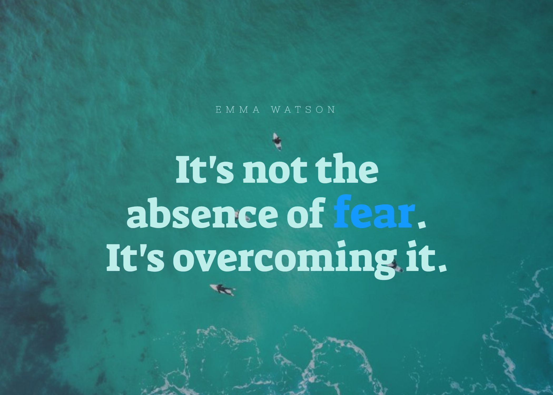Quotes image of It's not the absence of fear. It's overcoming it.
