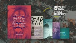 5 Beautifully Designed Quotes Poster to Help You Tackle Fear and How to make them.