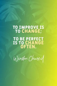 Quotes about change from Winston Churcil