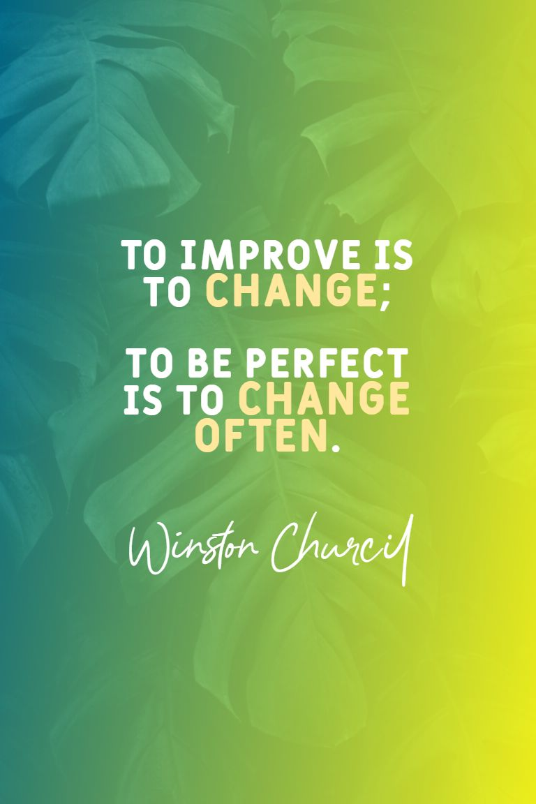 Quotes image of To improve is to change; to be perfect is to change often.
