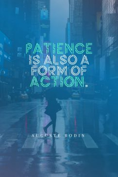 Patience benefits and its downloadable quotes poster