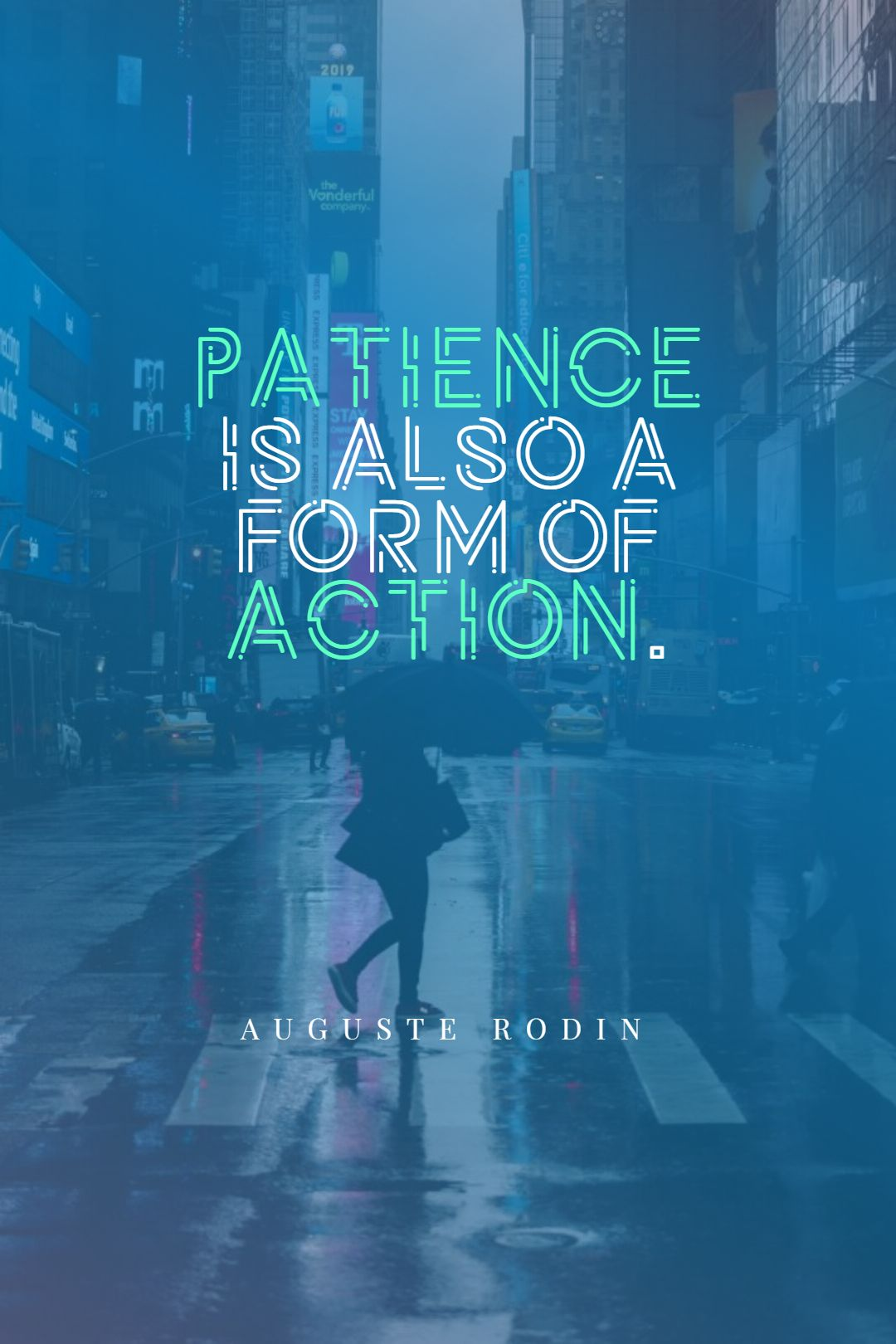 Quotes image of Patience is also a form of action.