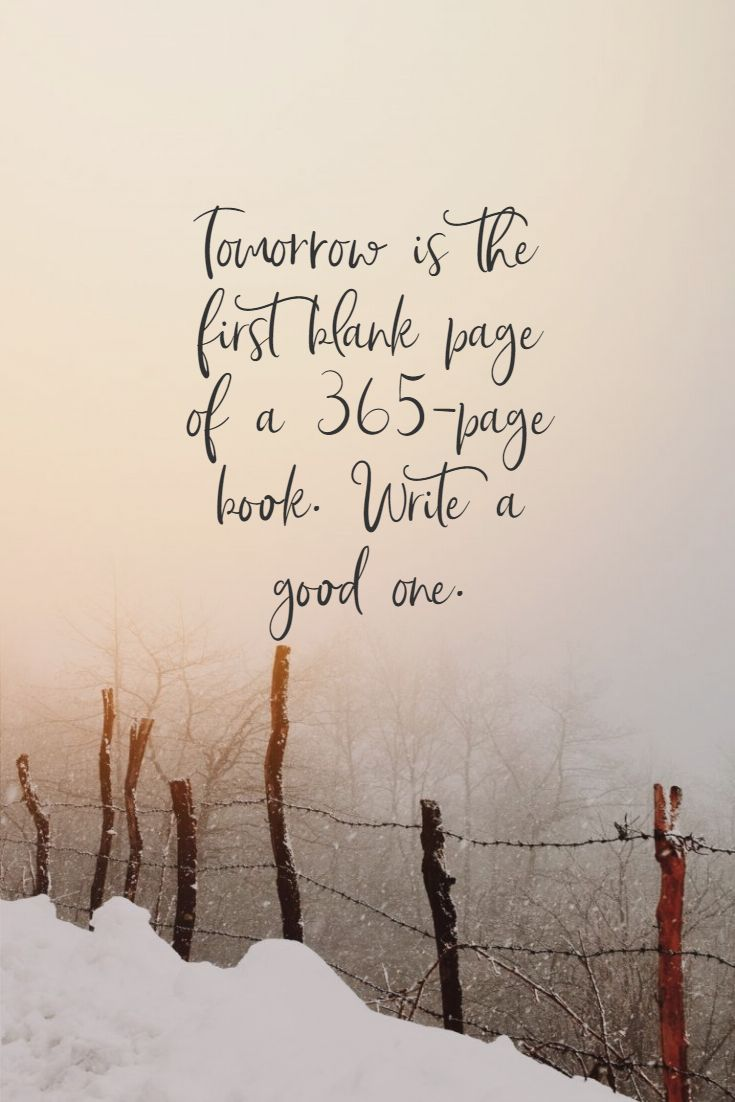 Quotes image of Tomorrow is the first blank page of a 365-page book. Write a good one.