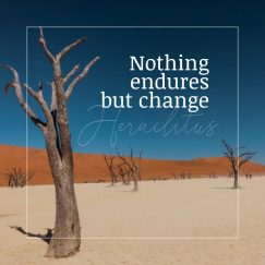 Heraclitus 's quote about change. Nothing endures but change…