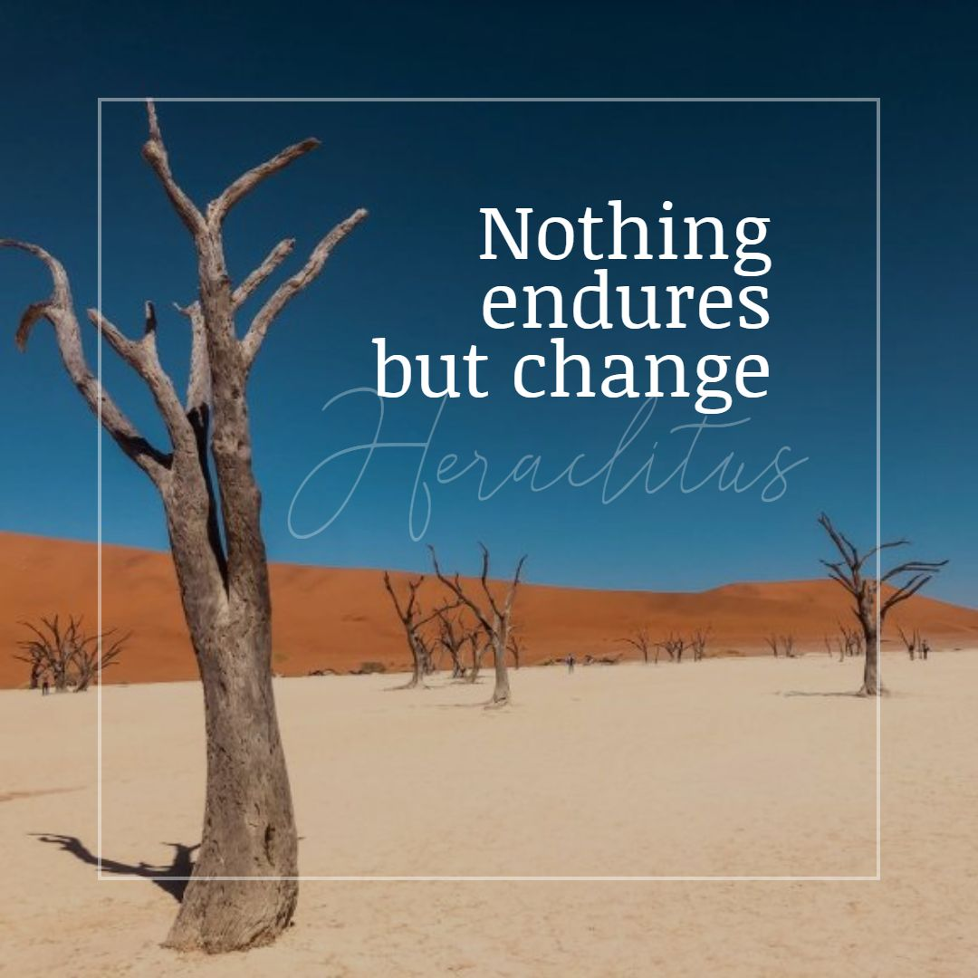 Quotes image of Nothing endures but change