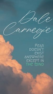 Dale Carnegie's quotes to face fear