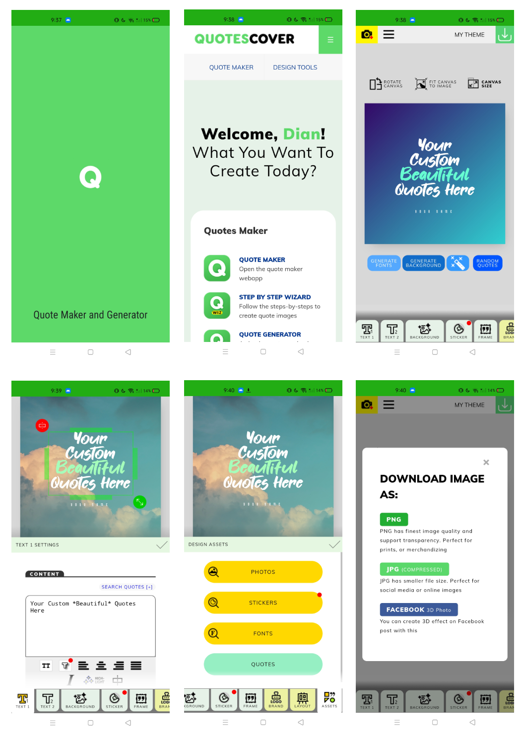 Members Page Screenshot: Mobile view