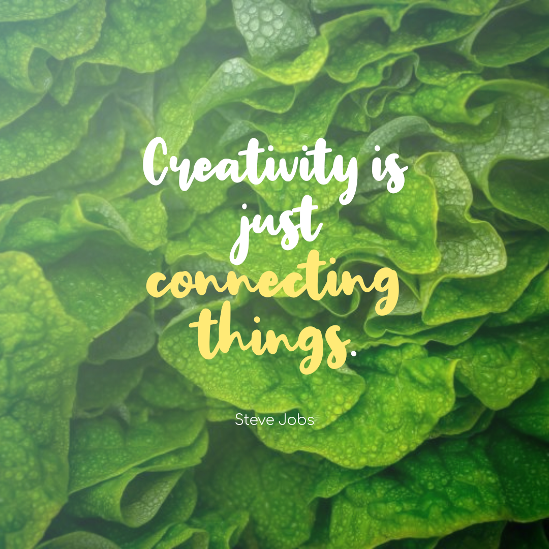Quotes image of Creativity is just connecting things.
