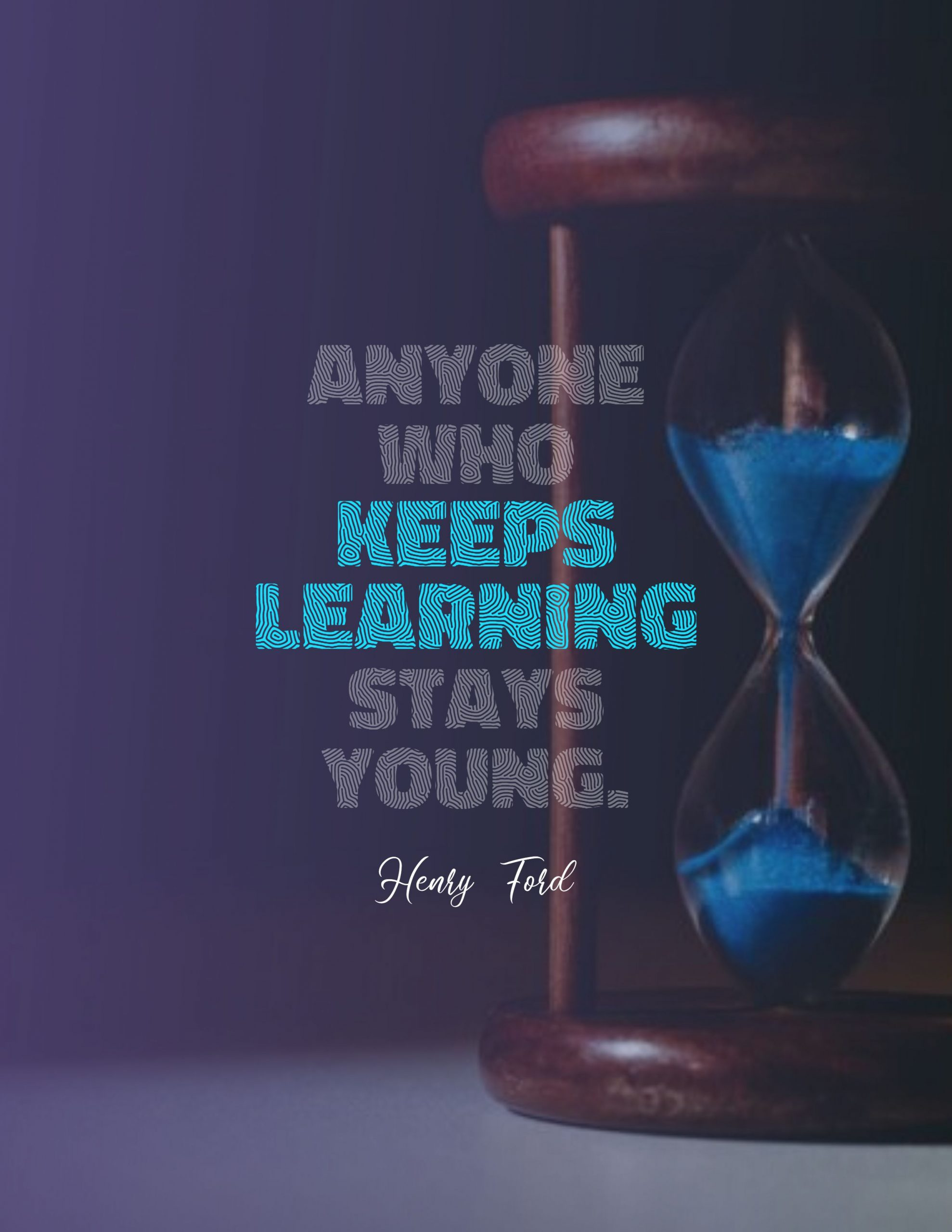 Quotes image of Anyone who keeps learning stays young.