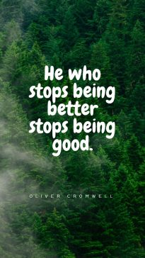 Oliver Cromwell's quotes about being good
