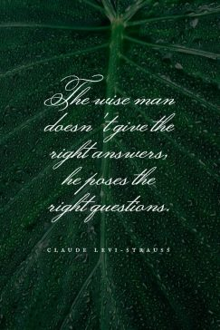 Quotes from Claude Levi-Strauss about the wise man