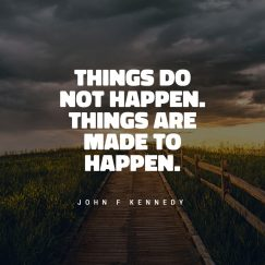 Quotes from John F. Kennedy about things