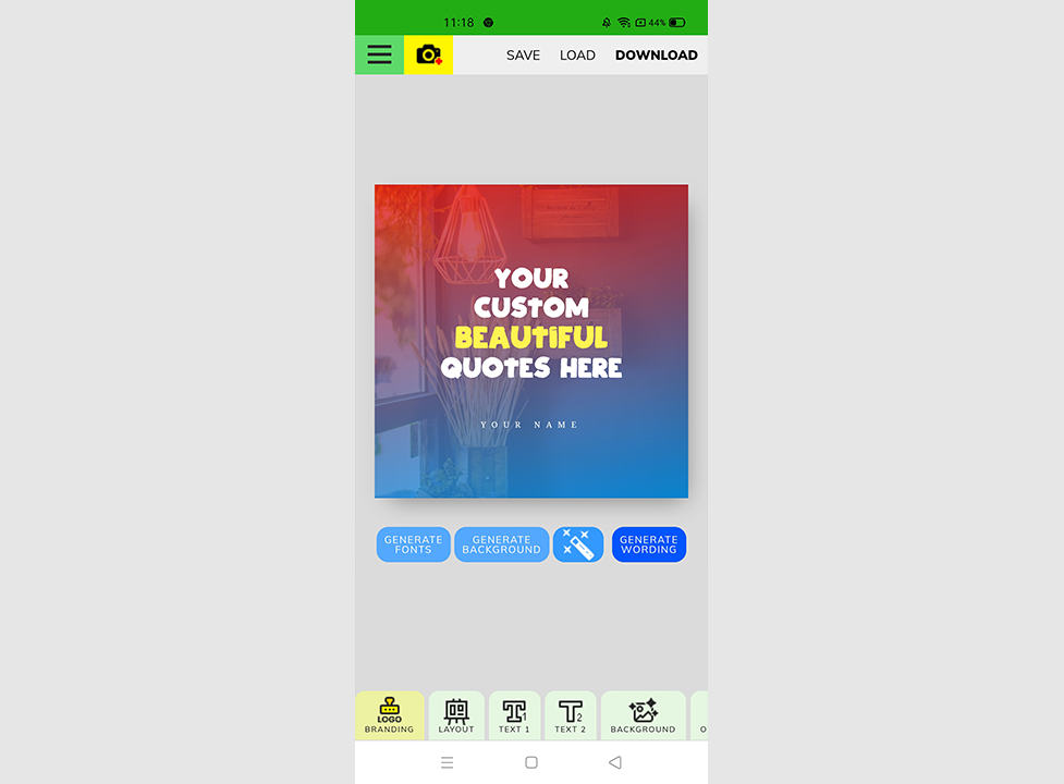 QuotesCover web app in action