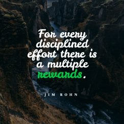 Jim Rohn's quotes about effort and reward