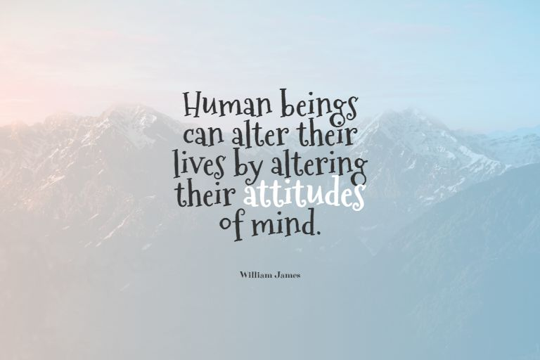 Quotes image of Human beings can alter their lives by altering their attitudes of mind.