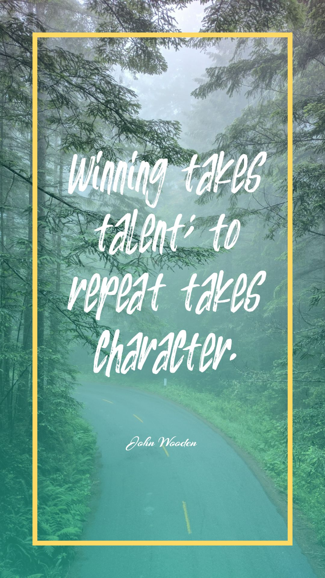 Quotes image of Winning takes talent; to repeat takes character.