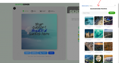 Big news! Now you can browse tons of photo from Unsplash and apply  it to quote maker
