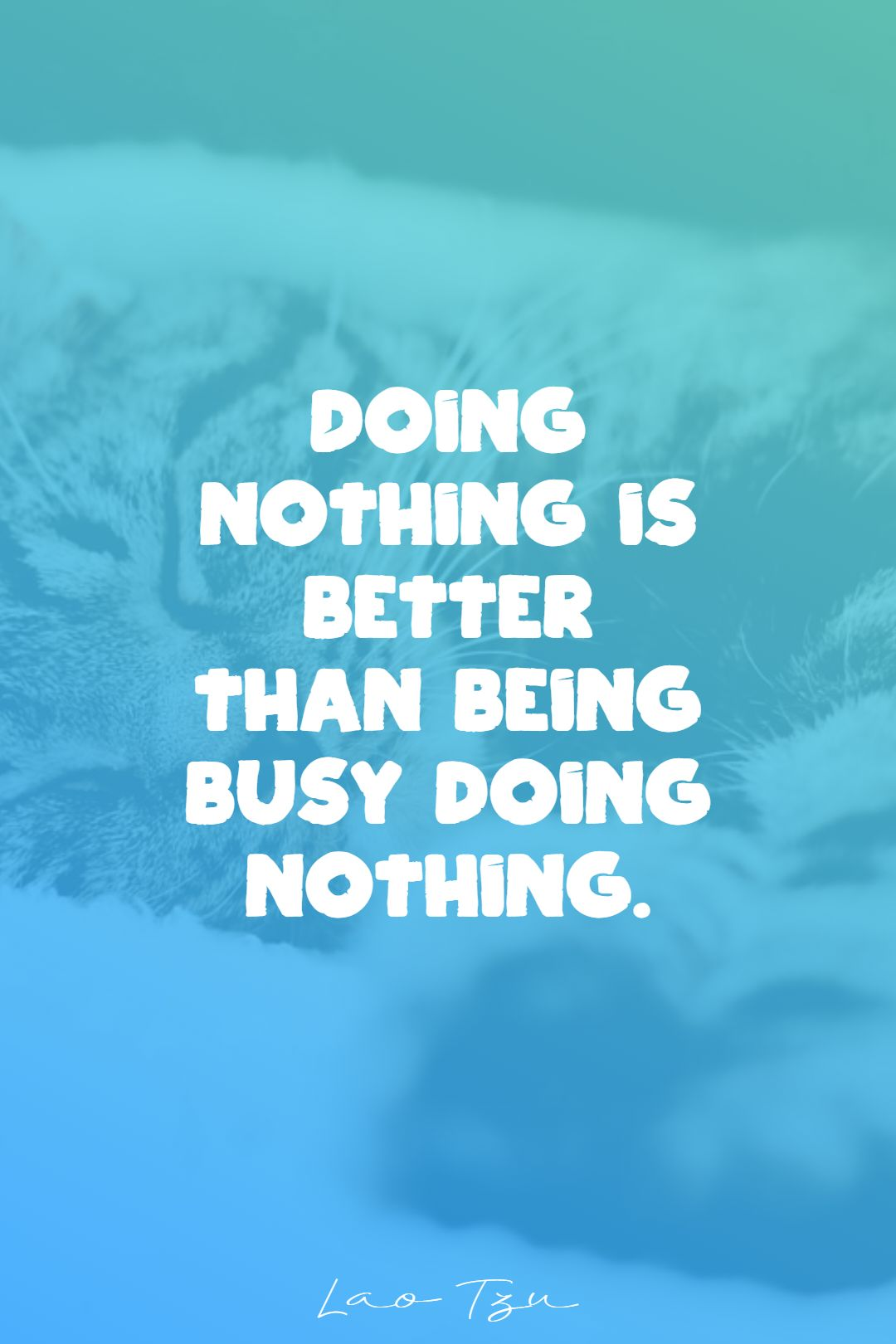 Quotes image of Doing nothing is better than being busy doing nothing.