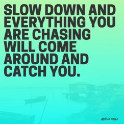 John De Paola's quote about chasing. Slow down and everything you…