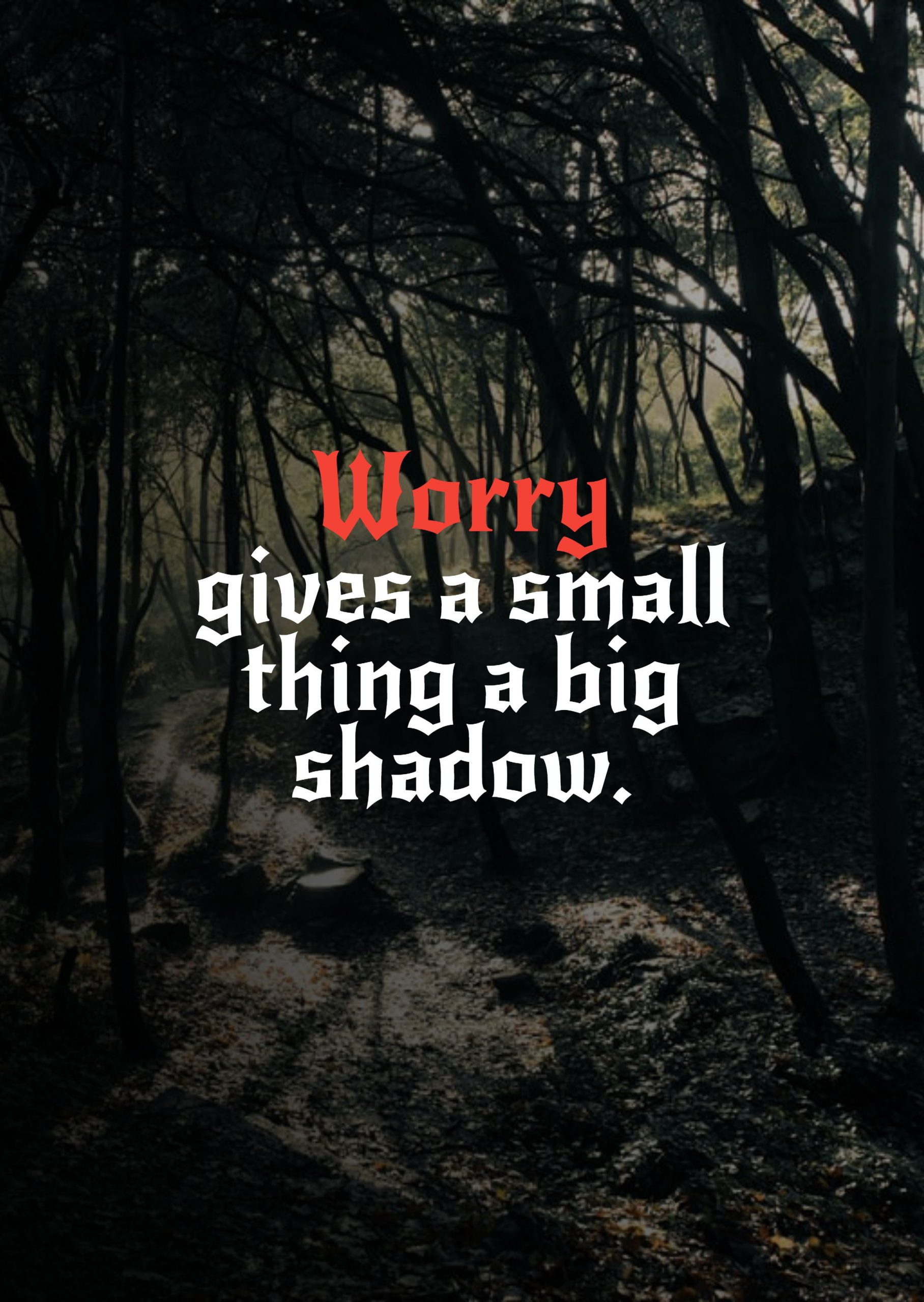 Quotes image of Worry gives a small thing a big shadow.