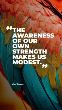 Paul Cezanne's quote about modest. The awareness of our own…