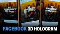 How to create Quote Image that looks like a 3D Hologram Text on Facebook