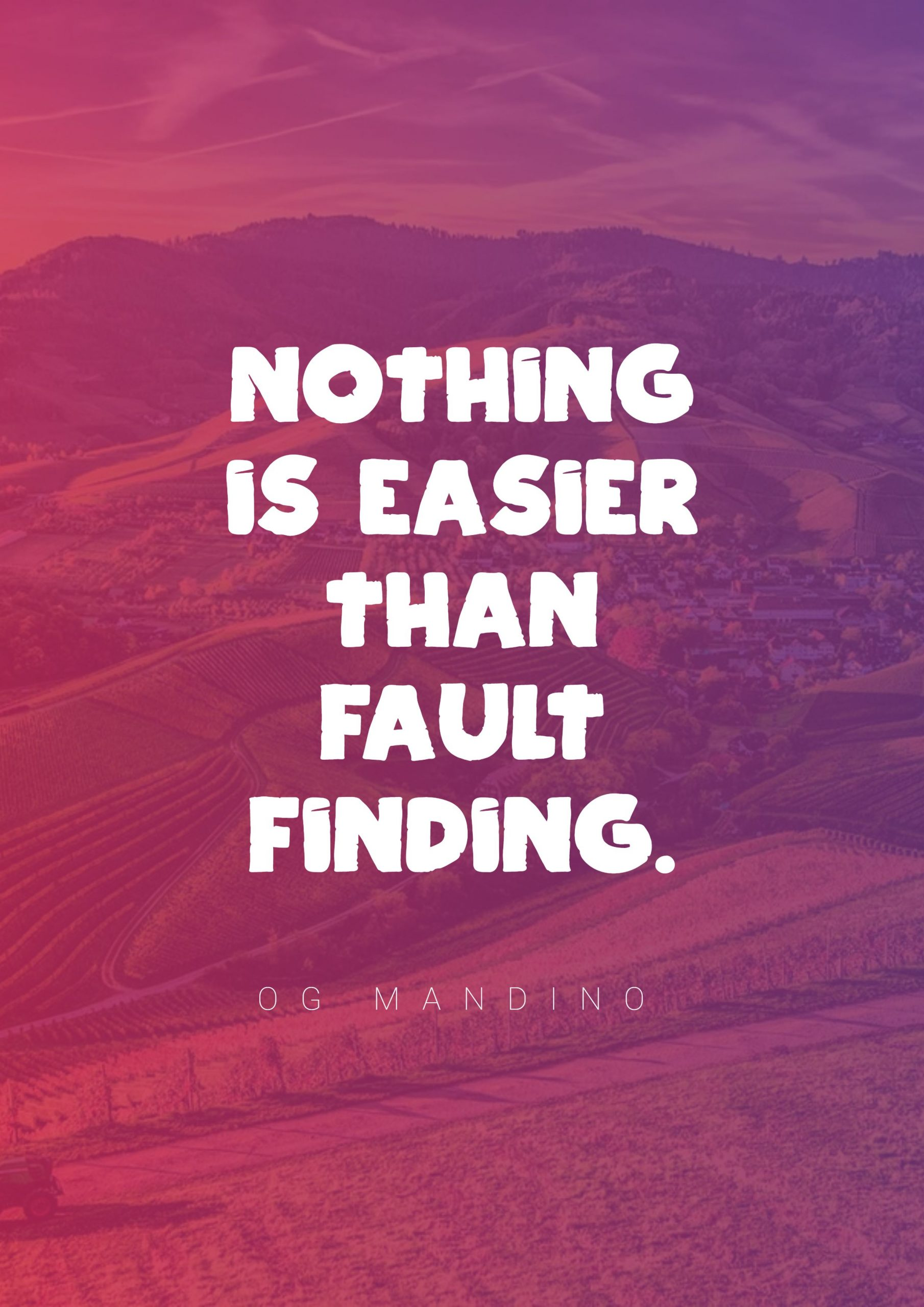 Quotes image of Nothing is easier than fault finding.