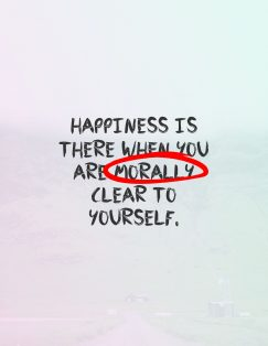 M.D. 's quote. Happiness is there when you…