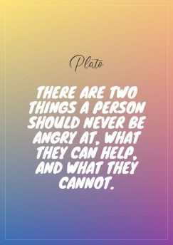 Plato's quote about angry. There are two things a…