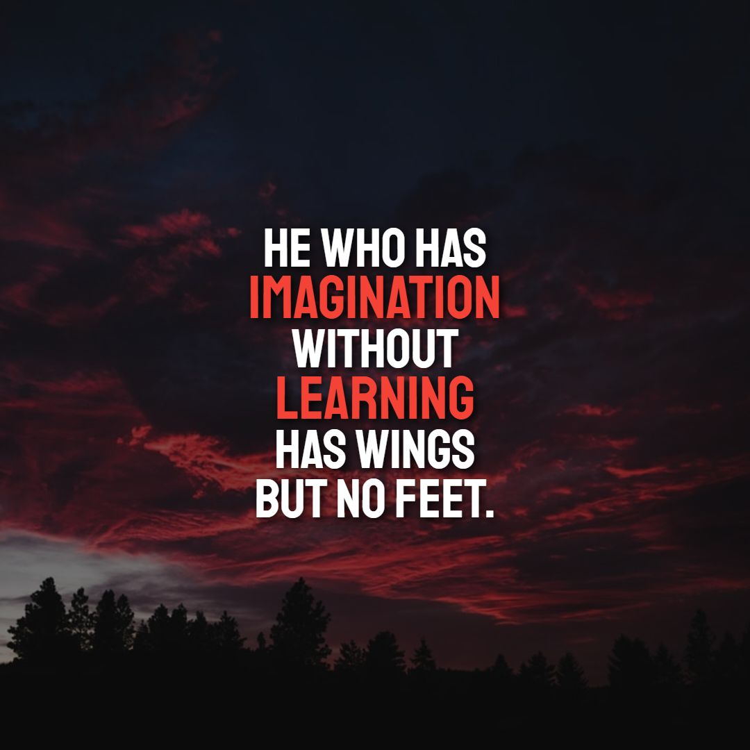 Quotes image of He who has imagination without learning has wings but no feet.