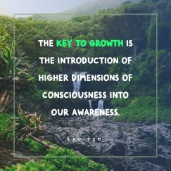 Lao Tzu's quote about awareness. The key to growth is…