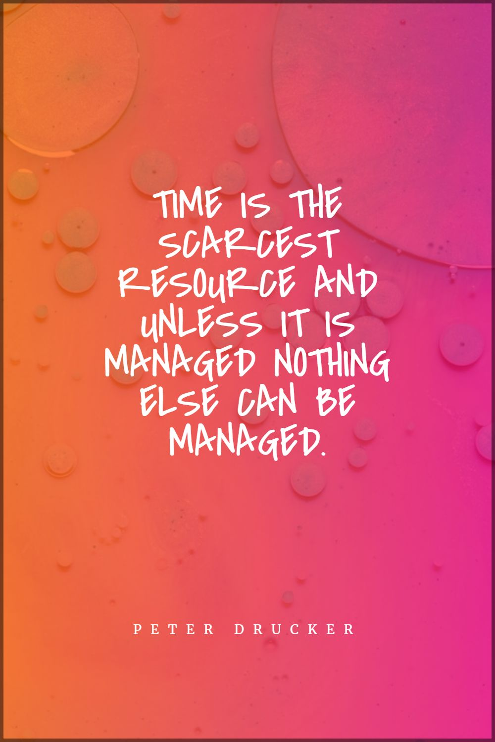 Quotes image of Time is the scarcest resource and unless it is managed nothing else can be managed.