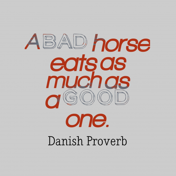 Danish proverb about rightness.