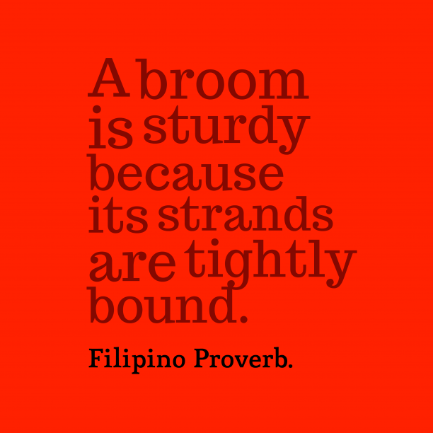 Filipino wisdom about unity.