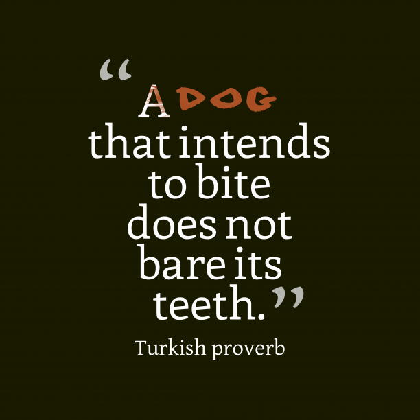 Turkish proverb 's quote about . A dog that intends to…